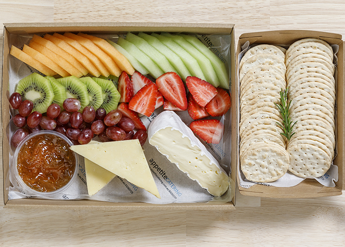 cheese & fruit with extras